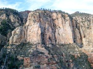 Canyon Cliff View, Wilson Mountain North Trail, Sedona, Arizona